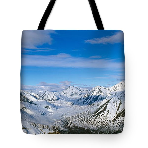 Mountains And Glaciers In Wrangell-st Tote Bag
