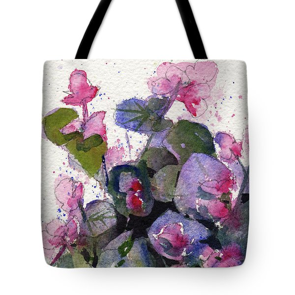 Tote Bag featuring the painting My Annual Begonias by Kris Parins