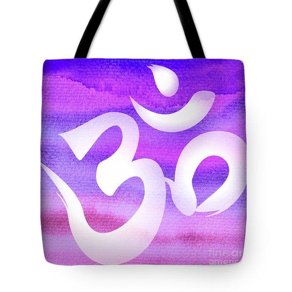 Om Symbol. Light Purple Pastels Tote Bag