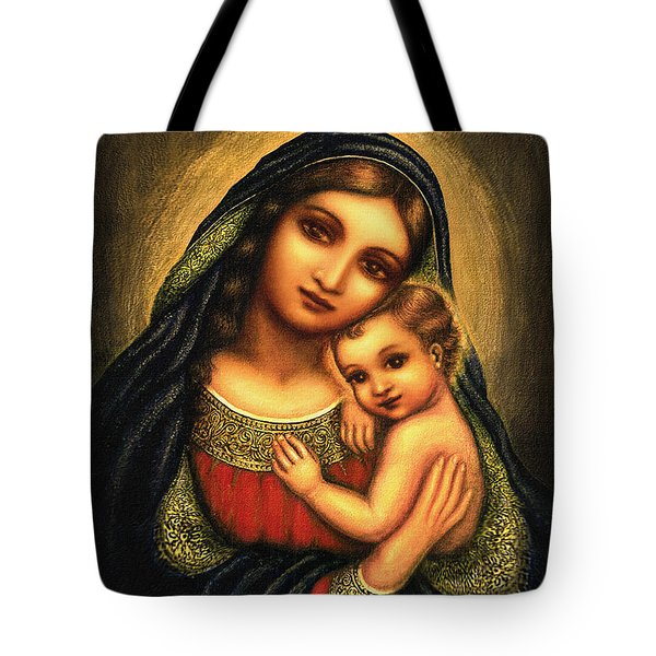Oval Madonna Tote Bag