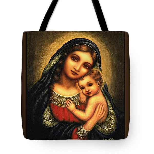 Oval Madonna Tote Bag by Ananda Vdovic