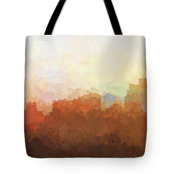 Tote Bag featuring the digital art Reno Nevada Skyline by Marlene Watson