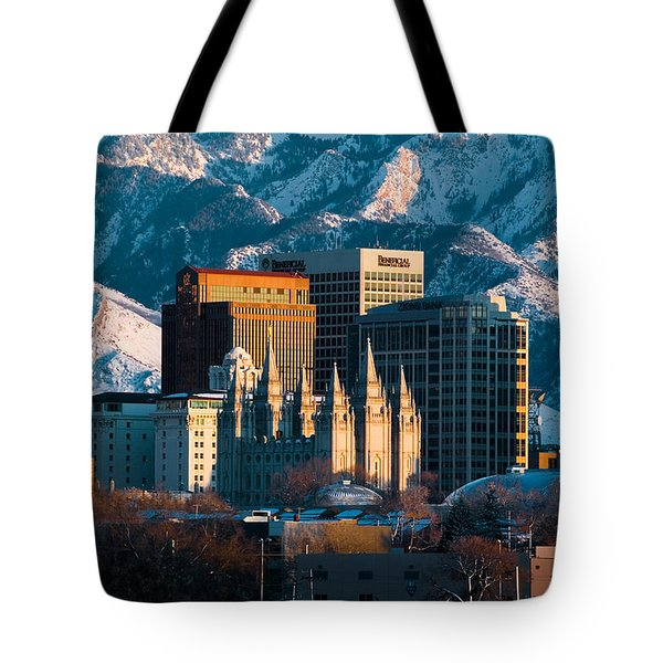 Salt Lake City Utah Usa Tote Bag