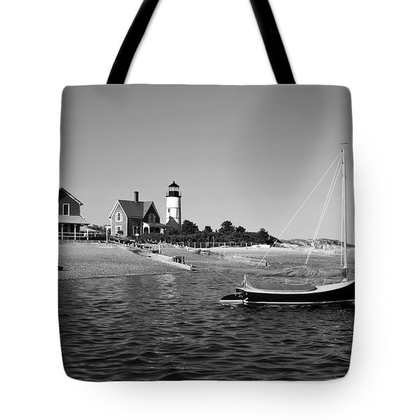 Tote Bag featuring the photograph Sandy Neck Lighthouse by Charles Harden
