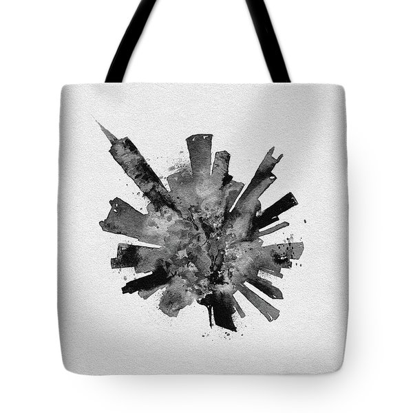 Black Skyround Art Of Chicago, United States Tote Bag
