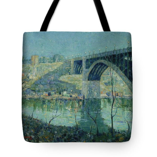 Spring Night, Harlem River Tote Bag