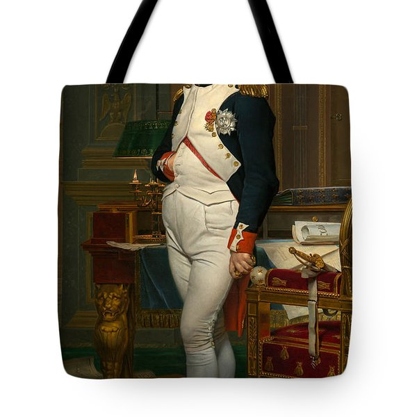 The Emperor Napoleon In His Study At The Tuileries Tote Bag