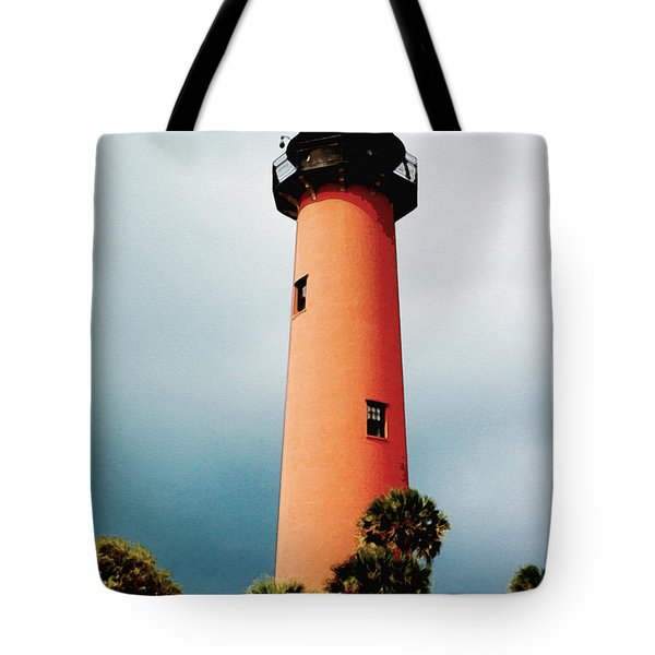 Tote Bag featuring the pyrography The Lighthouse by Artistic Panda