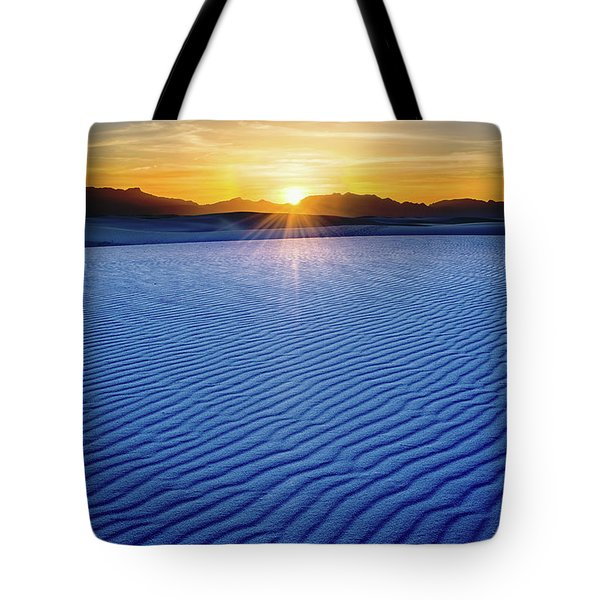 The Unique And Beautiful White Sands National Monument In New Mexico. Tote Bag