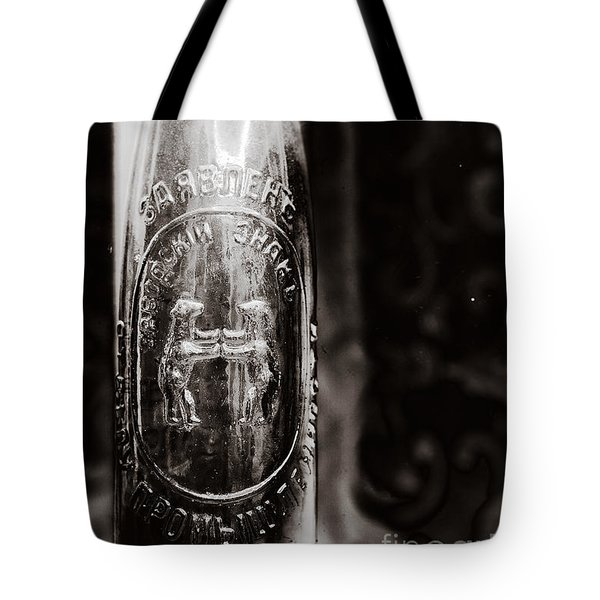Tote Bag featuring the photograph Vintage Beer Bottle #0854 by Andrey  Godyaykin