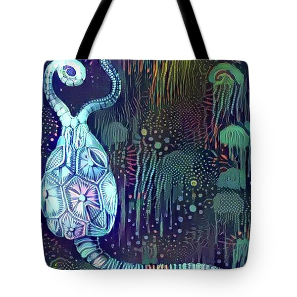 Abstract Jellyfish Tote Bag