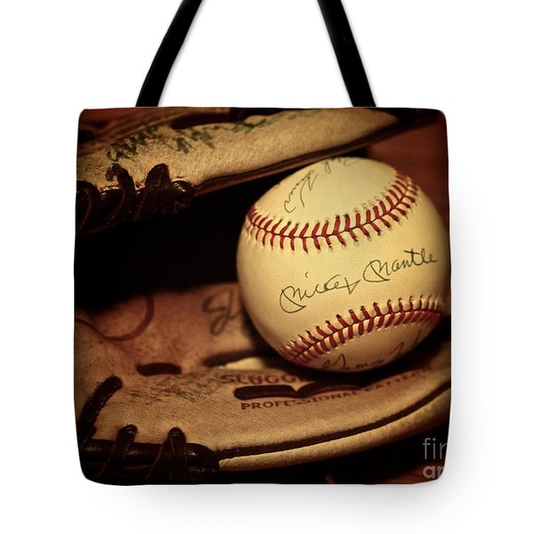 Tote Bag featuring the photograph 50 Home Run Baseball by Mark Miller