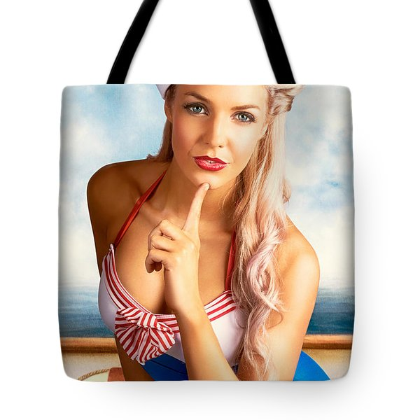 50s And 60s Pinup Style Photo Illustration Tote Bag