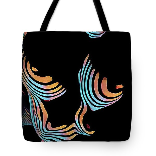5126s-mak Large Breasts Ribs Abstract View Rendered In Composition Style Tote Bag