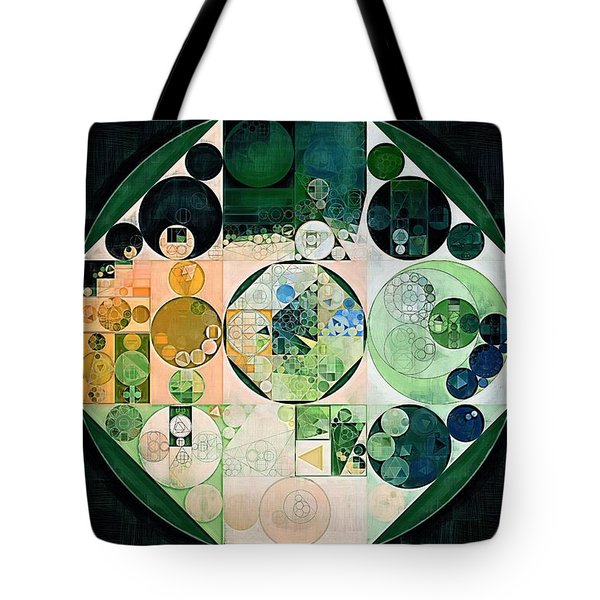 Tote Bag featuring the digital art Abstract Painting - Onyx by Vitaliy Gladkiy
