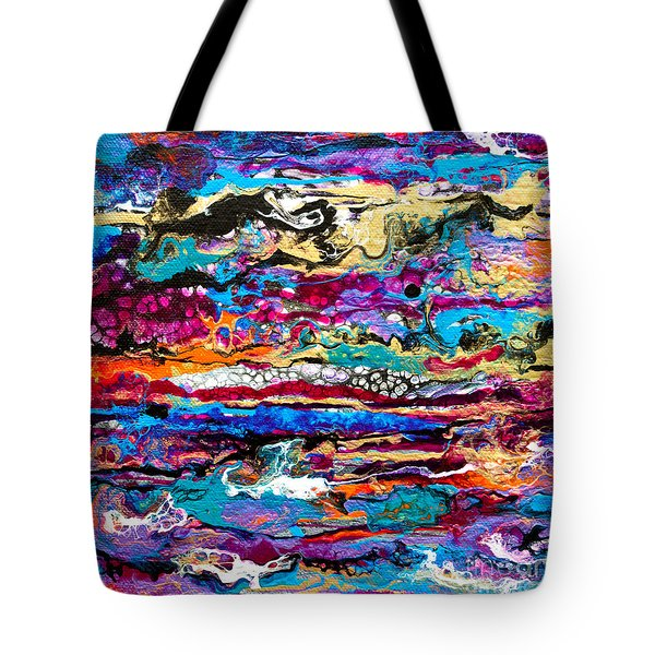#521  Bright Swipe Tote Bag