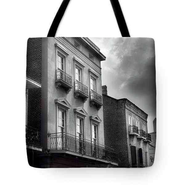 522 Bourbon Street In Black And White Tote Bag