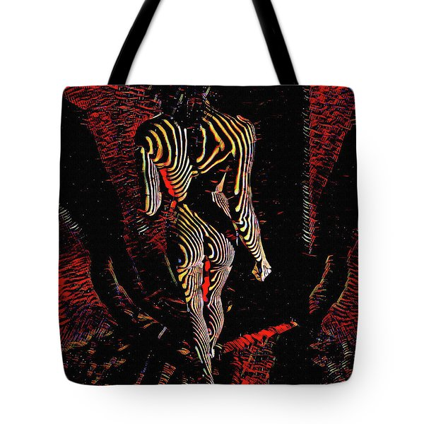 5360s-mak Abstract Zebra Striped Woman Strong Shoulders Tote Bag