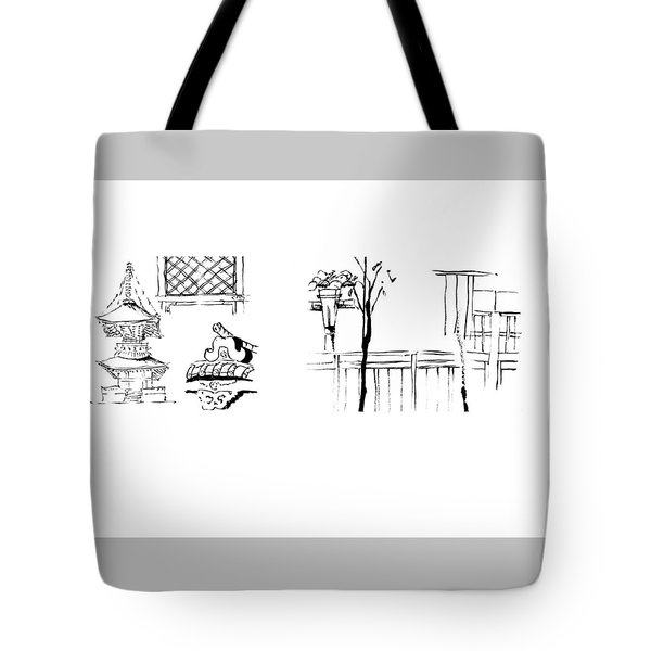 5.3.japan-1-details-roof-and-fence Tote Bag