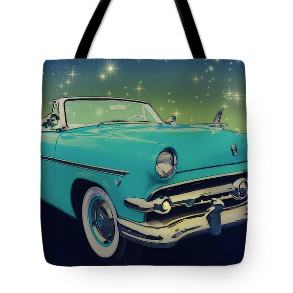 54 Ford Sunliner Date Night Saturday Night Tote Bag