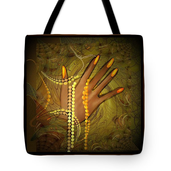 544 -  Gold Fingers  2017 Tote Bag by Irmgard Schoendorf Welch