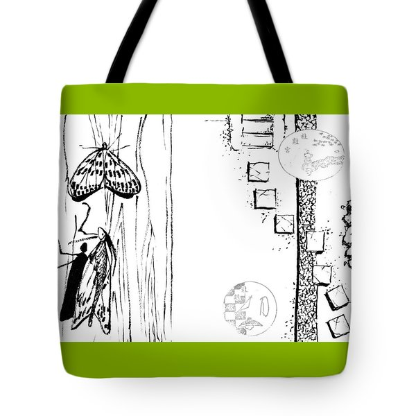 5.4.japan-1-butterfly-and-walkway Tote Bag