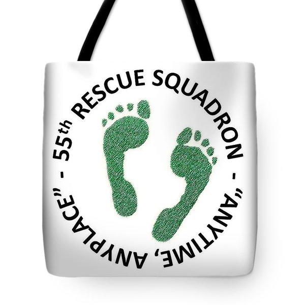55th Rescue Squadron Tote Bag