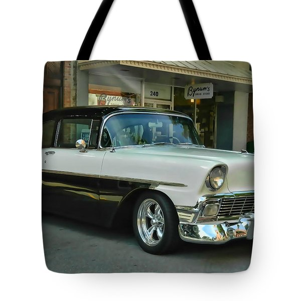 '56 Chevy Hot Rod Tote Bag
