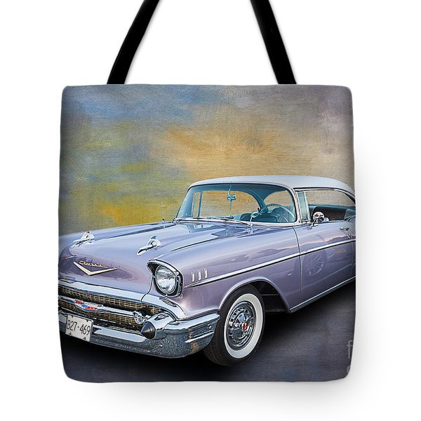 57 Chev Classic Car Tote Bag