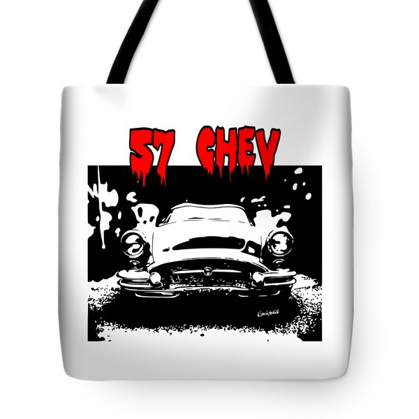 57 Chev Tote Bag by Kim Gauge