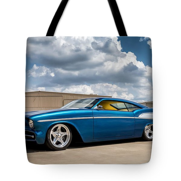 Tote Bag featuring the digital art '57 Chevy Custom by Douglas Pittman