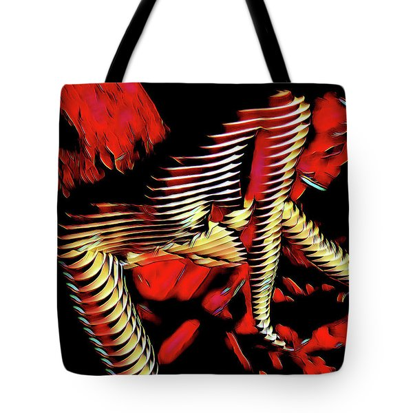 5787s-mak Nude Woman Art Rendered In Red Palette Knife Style Tote Bag