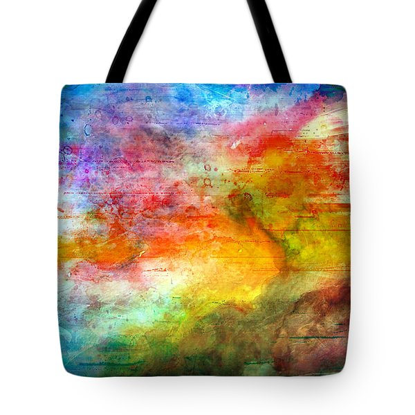5a Abstract Expressionism Digital Painting Tote Bag