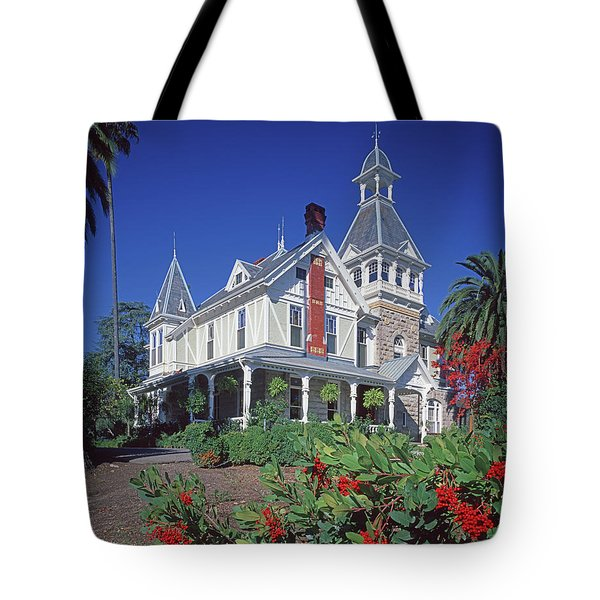 Tote Bag featuring the photograph 5b6386 Villa Miravalle Spring Mountain Vineyard Falcon Crest by Ed Cooper Photography