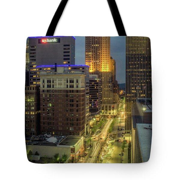 5th Street Cincinnati Tote Bag by Scott Meyer