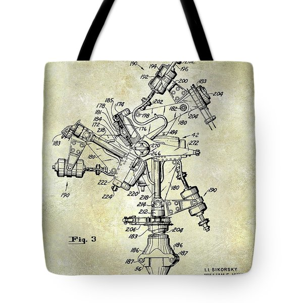 1950 Helicopter Patent Tote Bag