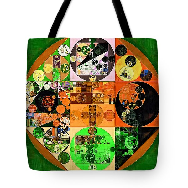 Tote Bag featuring the digital art Abstract Painting - Lincoln Green by Vitaliy Gladkiy