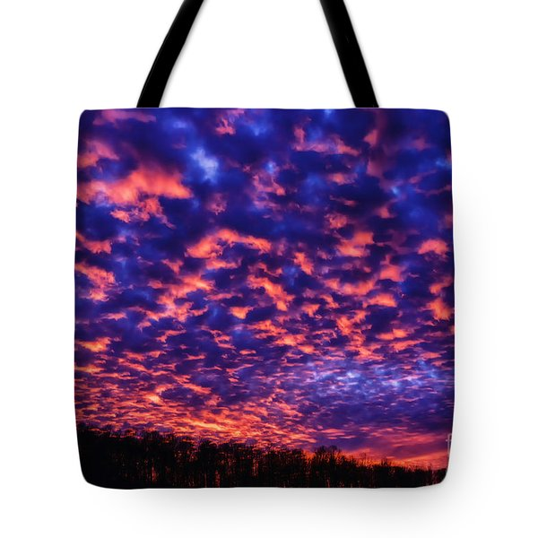 Tote Bag featuring the photograph Appalachian Sunset Afterglow by Thomas R Fletcher