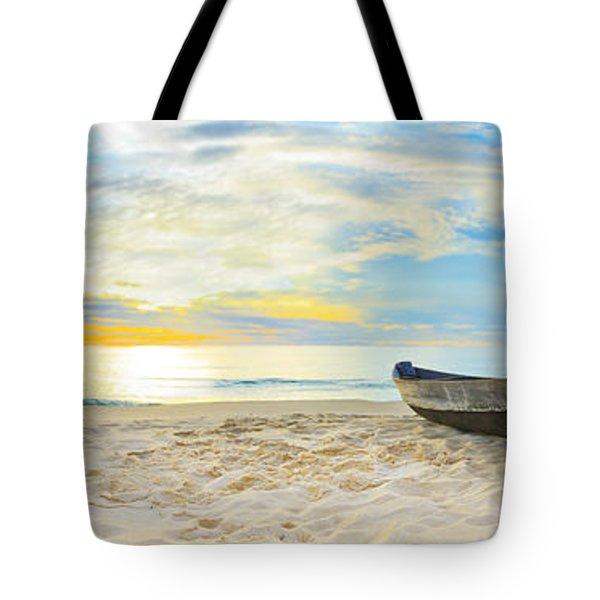 Beach Panorama Tote Bag