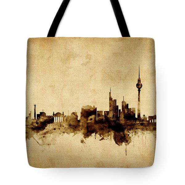 Berlin Germany Skyline Tote Bag by Michael Tompsett