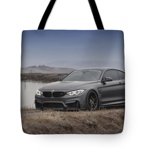 Tote Bag featuring the photograph Bmw M4 by ItzKirb Photography