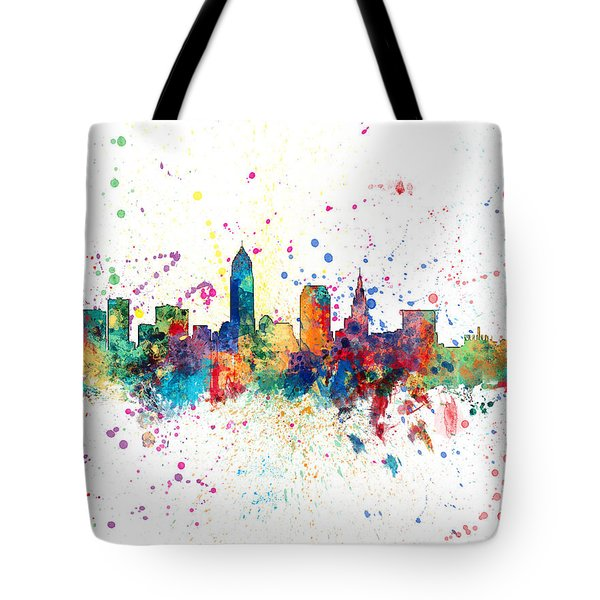 Cleveland Ohio Skyline Tote Bag
