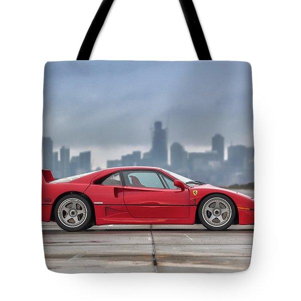 #ferrari #f40 #print Tote Bag