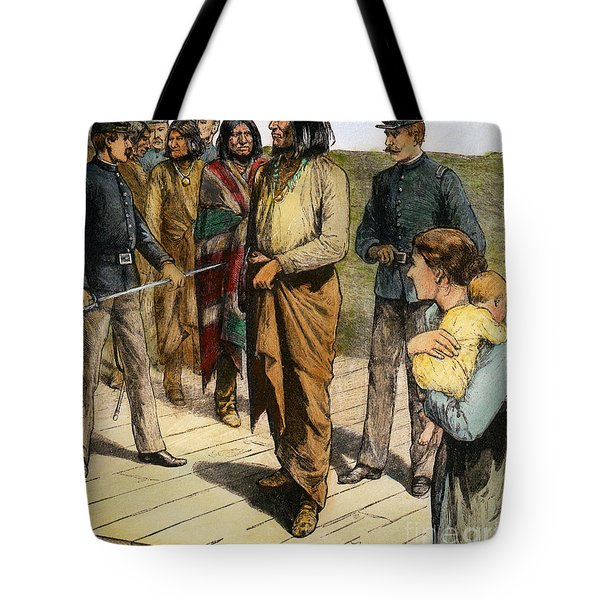 Tote Bag featuring the photograph Geronimo 1829-1909.  To License For Professional Use Visit Granger.com by Granger