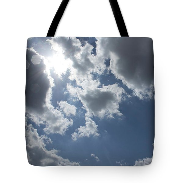 Tote Bag featuring the photograph 6-gon Boken Sky by Megan Dirsa-DuBois