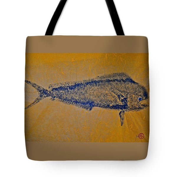 Gyotaku - Mahi Mahi - Dorado - Dolphinfish Tote Bag