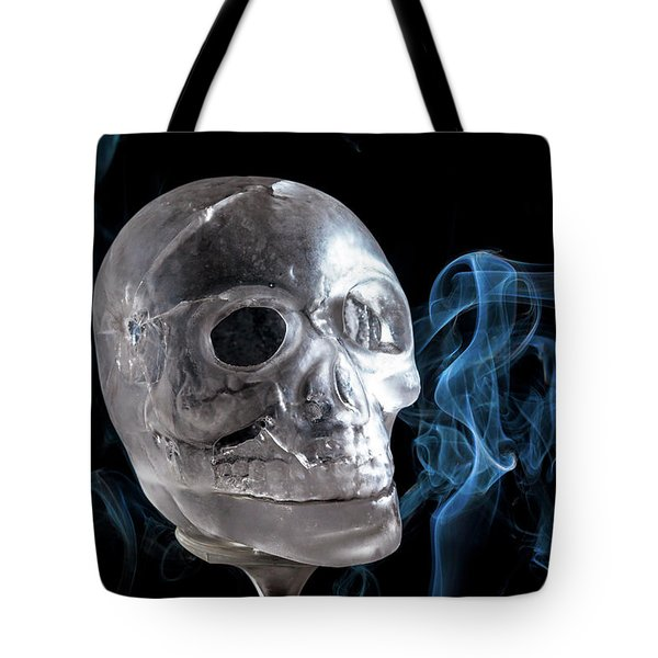 Ice Skullpture Tote Bag