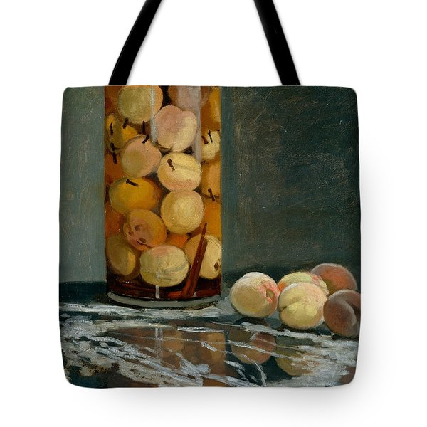 Jar Of Peaches Tote Bag by Claude Monet