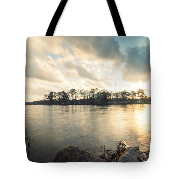 Lake Sunset Tote Bag
