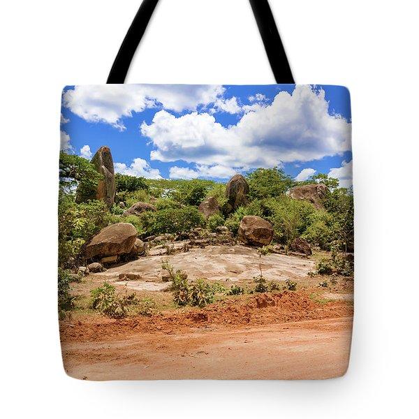 Landscape In Tanzania Tote Bag by Marek Poplawski
